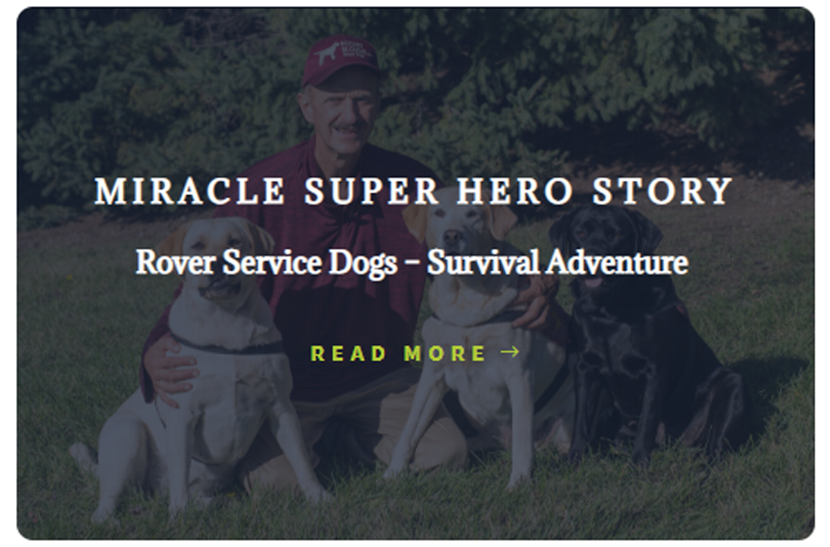 Rover SErvice Dogs - Survival Adventure
